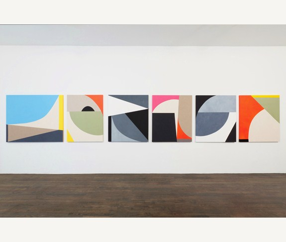 Sarah Crowner: Untitled (2011): Oil and gouache on sewn canvas and linen. Images courtesy Nichelle Beauchene Gallery, New York.