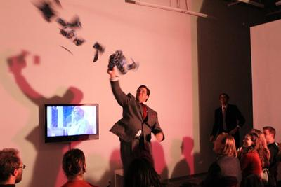 Rancourt/Yatsuk: The Switch (performance): Courtesy Kate Werble Gallery, New York.