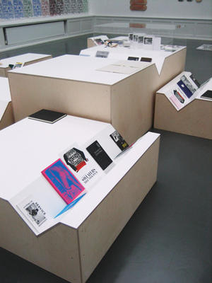 Gareth Long: A Place to Sit. A Place to Read. A Place to Sit and Read, 2009.: Plywood and Plexiglas. Installation view at Badischer Kunstverein. Courtesy the artist.