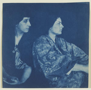 Robert Flaherty: Portrait of Frances Loring and Florence Wyle (1914): Cyanotype, 14.6 x 14.7 cm. Gift of the Estates of Frances Loring and Florence Wyle (1983). 86/117. © 2012 Art Gallery of Ontario.