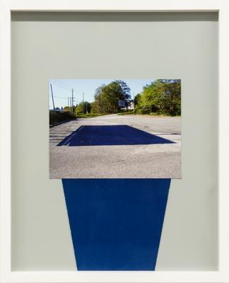 Shadow (Marpole Midden), 2012: 16 x20 inches, inkjet print, cyanotype and undeveloped C- print paper.