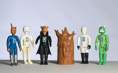 The Monsters of Winnipeg Folklore: Marcel Dzama: The Monsters of Winnipeg Folklore (2004). Dimensions variable (approx. 8 cm tall), CEREALART Projects. Edition of 2,500 (each character). Courtesy CEREALART Projects, Philadelphia.