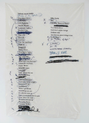 Setlist (Jacob), 2009: Cotton on silk dupion, 150 x 200 cm.