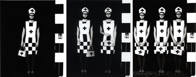 Janieta Eyre: The Royal Hospital Staff (1998): Fibre-based triptych prints, 30 x 40 inches each. Images courtesy the artist,  Gallerie Samuel Lallouz, Montreal and Katharine Mulherin Contemporary Art Projects, Toronto.