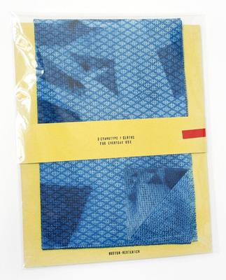 Lili Huston-Herterich: 3 Cyanotype J-Cloths (For Everyday Use), 2012.: Courtesy the artist and Art Metropole, Toronto.