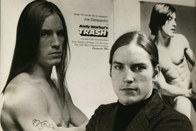 "Joe Dallesandro promoting ""Trash"" in Berlin, early 1970s: Photo courtesy Little Joe Productions and joedallesandro.com."