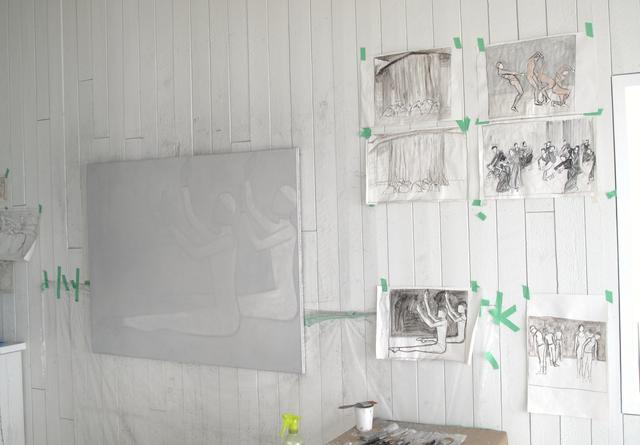 Images of Otto-Knapp's studio during her Fogo Island residency, 2011: Courtesy the artist.