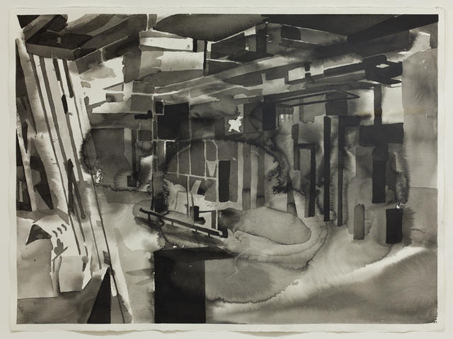 Michael Merrill: Duct 3 (2010), ink on paper: Images courtesy Galerie Roger Bellemare, Montreal. Photos: Guy L'Heureux.