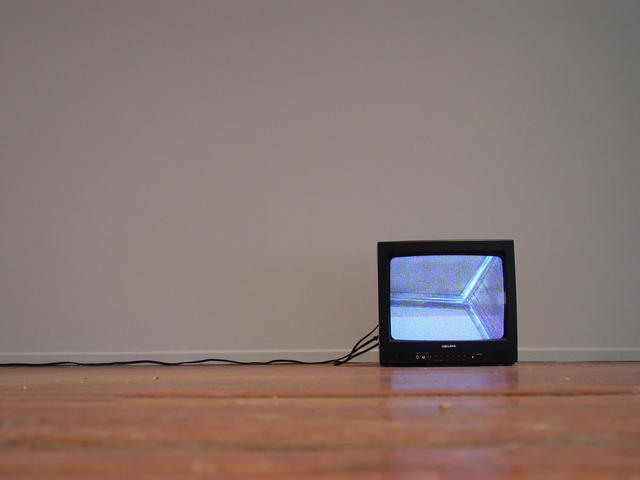 Bruce Nauman: Audio/Video Piece for London, Ontario (1969-70): Installation view, 2010. Photo: Julia Beltrano. Courtesy Donald Young. © Bruce Nauman/SODRAC, 2011.