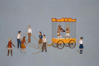 Edward del Rosario: Contenders IV (2009): Oil on linen. Courtesy Nancy Margolis Gallery, New York.