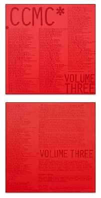 Michael Snow: Front and back covers of CCMC, Volume Three (1980): Produced by the Music Gallery, Toronto.