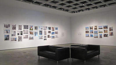 Jeff Thomas: Mapping Iroquoia: Cold City Frieze (installation view at the McMaster Museum of Art, 2012-13).