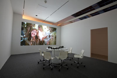 Installation View (2010): Ryan Trecartin: Installation view, 2010. Courtesy the artist and the Power Plant, Toronto. Photo: Steve Payne.