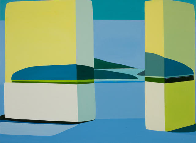Louise Belcourt: HedgeLand Painting # 9 (2009): Oil on canvas. Courtesy the artist and Jeff Bailey Gallery, New York.